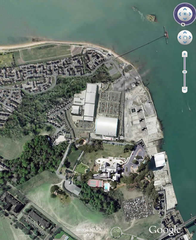 Google map of Tenpasenta woolston, Southampton