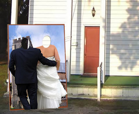 Budget wedding photo boothe